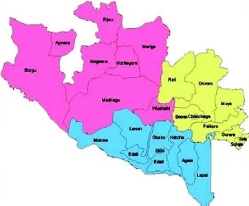 Map of Niger State with details