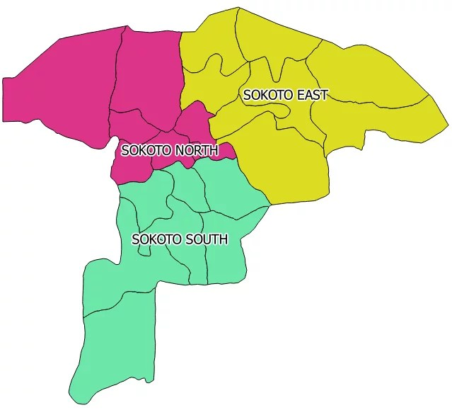 Map of Sokoto State with details