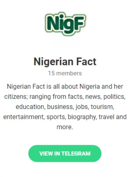 Nigerian Fact Telegram Group: Join Our Community of Users Today