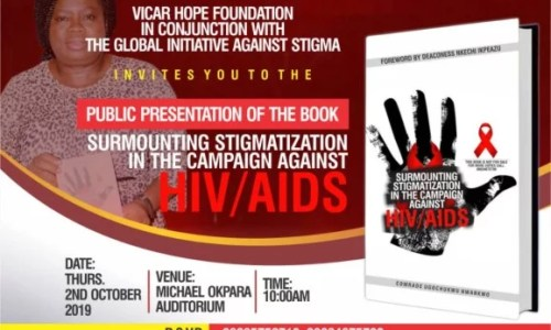 Vicar Hope Book Presentation on HIV Stigmatization at Micheal Okpara Auditorium Umuahia