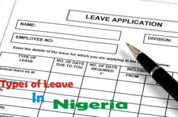 Types of Leave for Government Employees (Civil Service) in Nigeria
