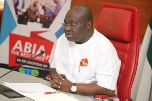 Victor Okezie Ikpeazu (Ph.D) . The executive governor of Abia State