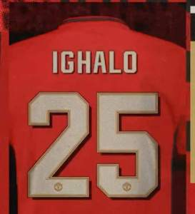 Odion Ighalo Jersey Number for Manchester United