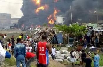 Fire Explosion at Abule-Ado in Amuwo Odofin LGA in Lagos State