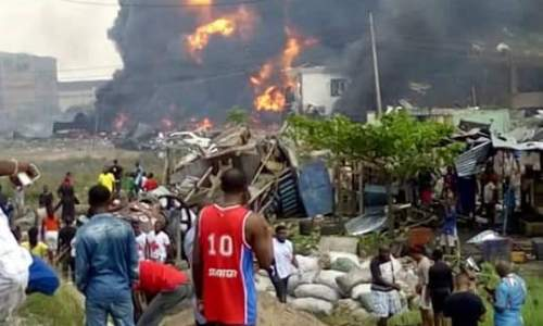 Fire Explosion at Abule-Ado in Amuwo Odofin LGA in Lagos State