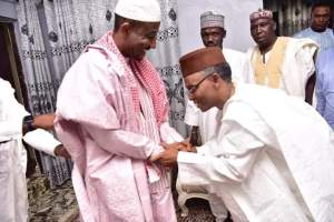 Governor of Kaduna State, Nasir El Rufai Paid a visit to Sanusi Lamido Sanusi, the Dethroned Emir of Kano