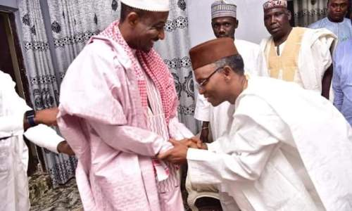 El Rufai Visits Sanusi Lamido Sanusi, The Dethroned Emir of Kano