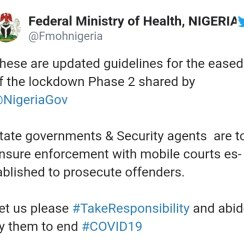 Phase 2 Relaxation of Lockdown: Ministry of Health Issues Guidelines Which Must be Strictly Adhered To