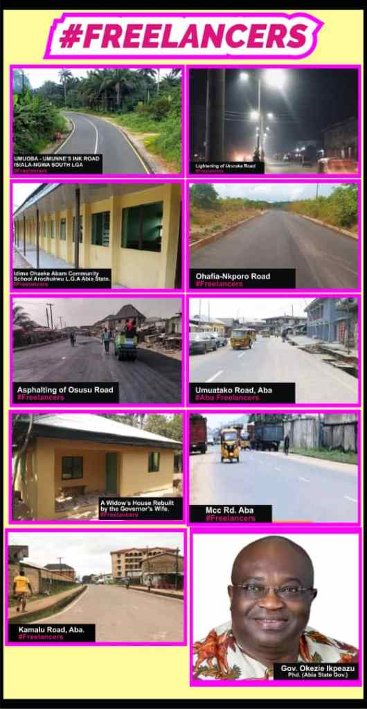 Roads constructed in Aba 2