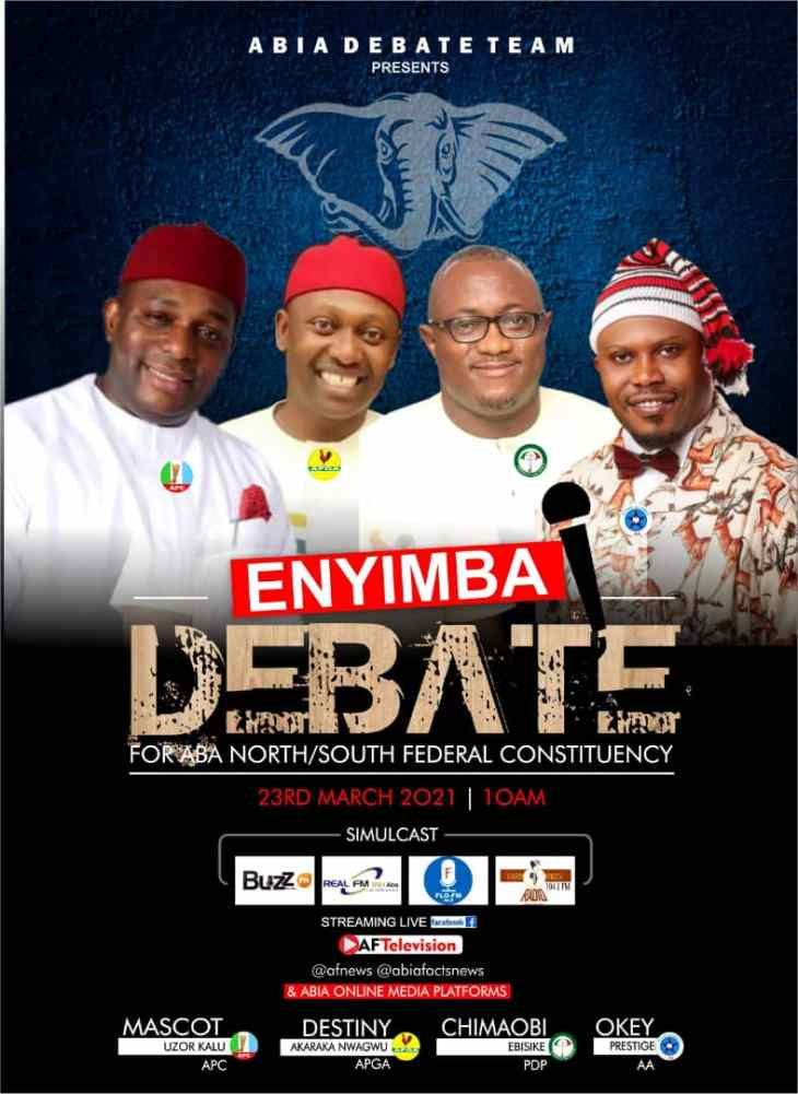 Enyimba Debate: Details of the Forthcoming Debate for Aba North/South Bye-election