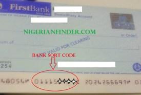 Sort Codes of Nigerian Banks