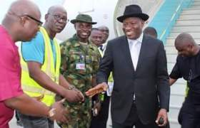Former President Jonathan Finally Returns to Nigeria
