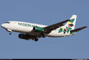 Nigerian Eagle Airline Boeing 737-300 with registration number 5N-VNE