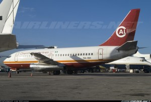 Chanchangi Airlines Boeing 737-200 with registration number 5N-BIH