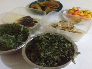 Kpomo, yellow pepper, washed dry and stock fish and uziza, efirin and bitterleaf