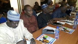 Some chief executives of parastatals including the commissioner of Accident Investigation Bureau (AIB), Dr. Felix Abali; Managing Director Federal Airports Authority of Nigeria (FAAN) Engineer Saleh Dunoma and Director General Nigeria Meteorological Agency (NiMET), Dr. Anthony Anuforum at the stakeholders forum