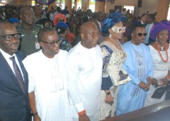 Bishop Kukah preaches unity as Air Peace boss buries father