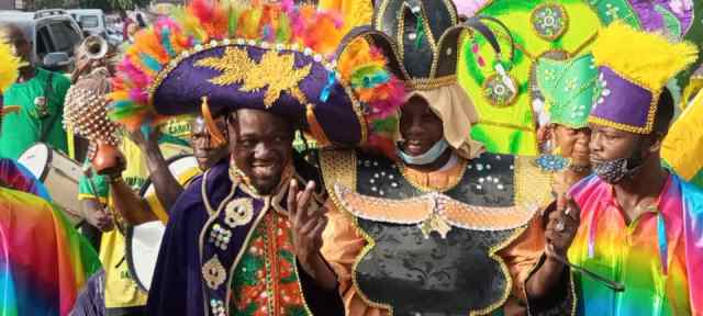 A mini Afro Brazilian carnival