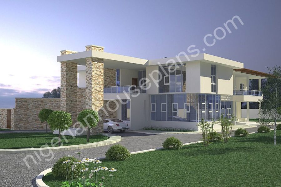 5 Bedroom Country Home  Ref 5018    NigerianHousePlans 5 Bedroom Country Home  Ref 5018