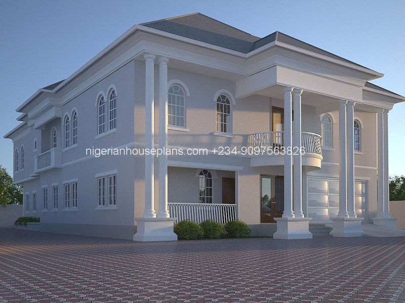 NigerianHousePlans   Your One Stop Building Project Solutions Center nigeria house plan home building design 5 bedroom apartment