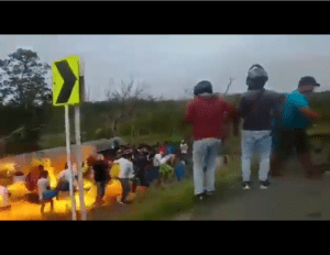 when an overturned petrol tanker exploded while people were scooping fuel in Colombia