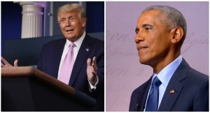 Trump blows hot, calls Obama a