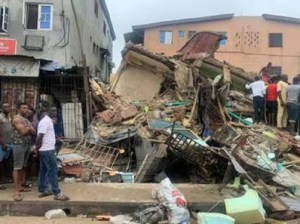 4 severely injured, one dead as a storey building collapses in Asaba