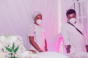 Nonso Okpala and wife pay last respect