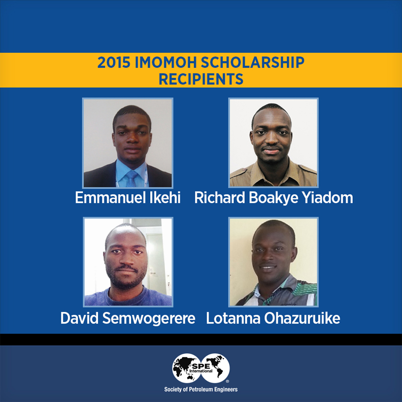 2017/2018 Society of Petroleum Engineers (SPE) Imomoh Scholarship for African Students