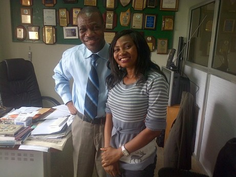 Mr Akin Olawore and Ifeoma