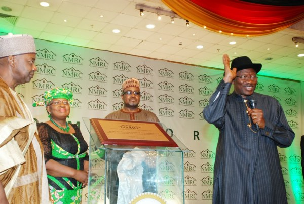 President Jonathan at the launch of NMRC
