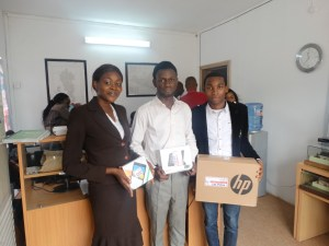 Victoria Akinyemi (3rd), Olarinde Samuel (2nd) & Mbakpuo Stanley (1st)