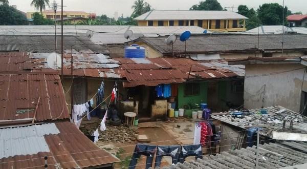 Tenement buildings in Lagos
