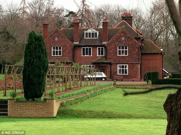 Denham: A £5million ten-bedroom home in Buckinghamshire, which boasts an indoor swimming pool