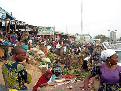 The popular Bodija market in Ibadan