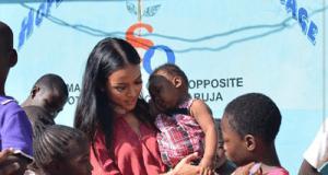 Karrueche Tran Visits Abuja IDP Camp