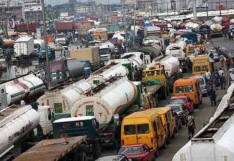 A portion of the Apapa-Wharf road opened to reduce traffic