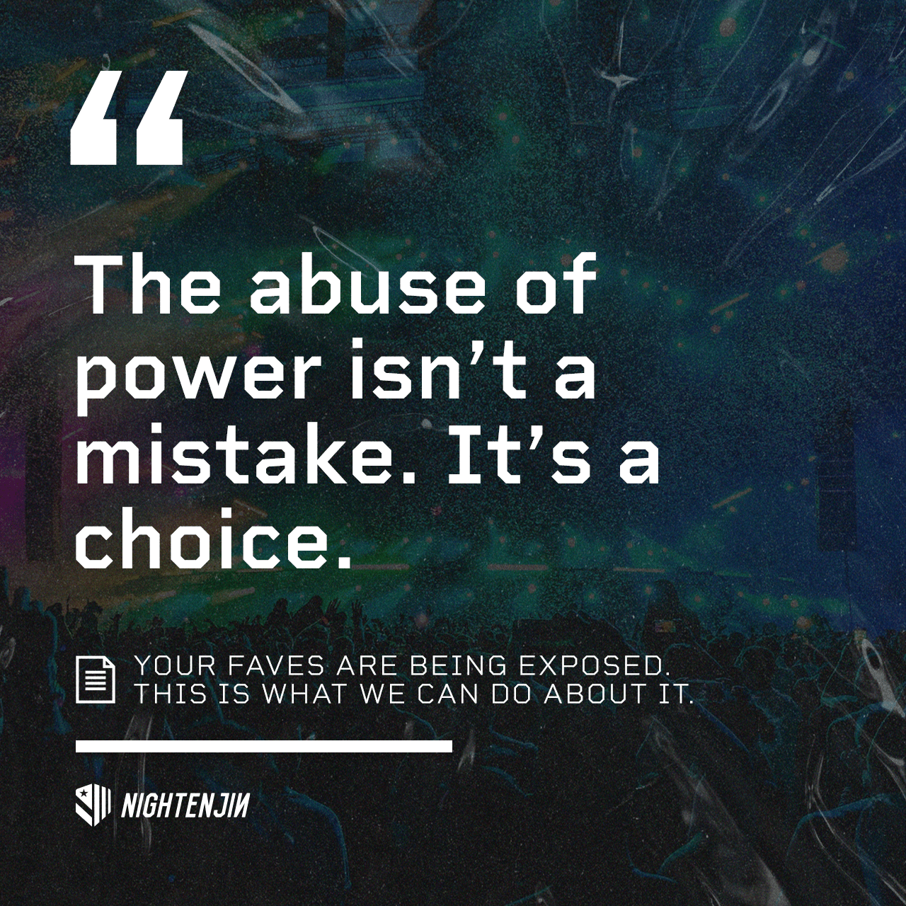 The abuse of power isn't a mistake. It's a choice.