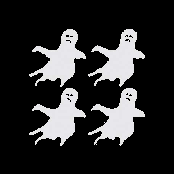 "Halloween Ghosts 4 1/2"" x 4 1/2"" reflective vinyl decal. Nightfire Patches®"