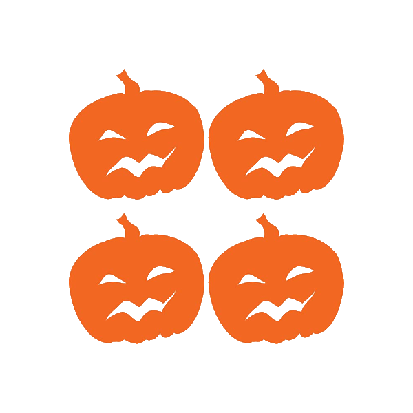 "Pumpkins 4 1/2"" x 4 1/2"" reflective vinyl decal. Nightfire Patches®"