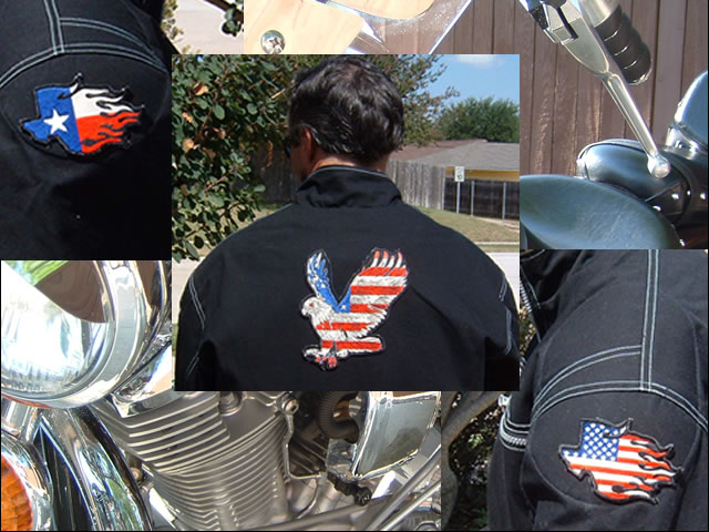 USA in Texas reflective embroidered patch. Nightfire Patches®