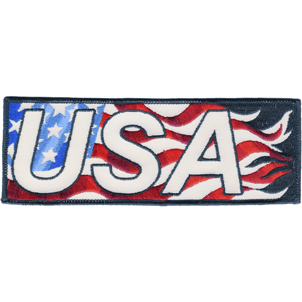 USA Flag Armband reflective embroidered patch. Nightfire Patches®