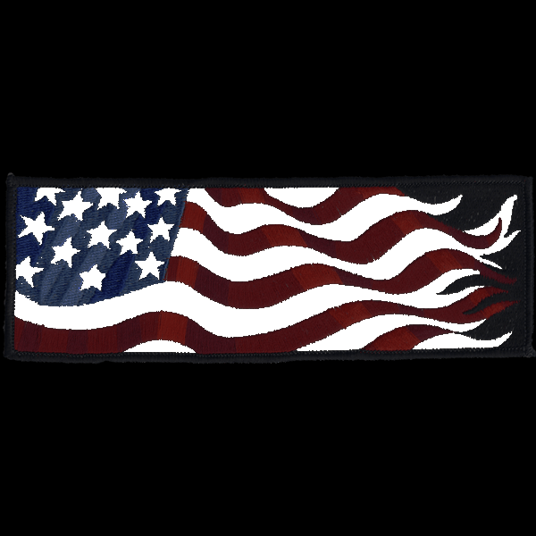 American Flag Left Armband reflective embroidered patch. Nightfire Patches®
