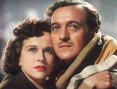 Kim Hunter and David Niven in A Matter of Life and Death (Stairway to Heaven) - 1946