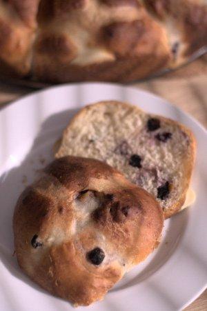 Blueberry Hot cross buns