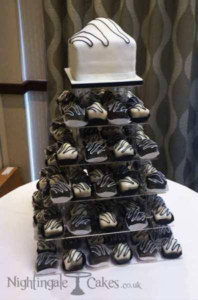 Fondant fancy wedding cake