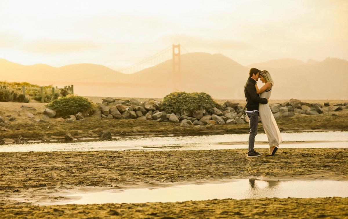 City Engagement Session San Francisco | Tatiana & Wes