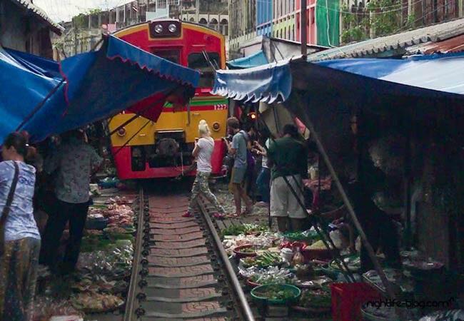 Bangkok Touren Eisenbahnmarkt