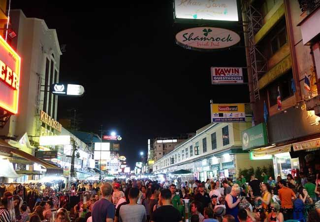 Khaosan Road Bangkok Nachtleben