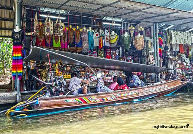 Schwimmender Markt Bangkok Thailand